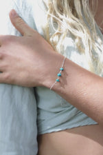 Turquoise Beaded Chain Bracelet