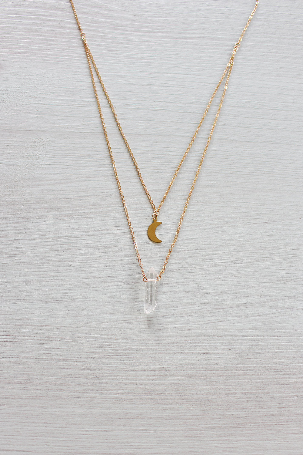 Crystal Quartz Layered Necklace