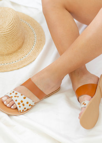 Costa Maya Blush Spotted Sandals