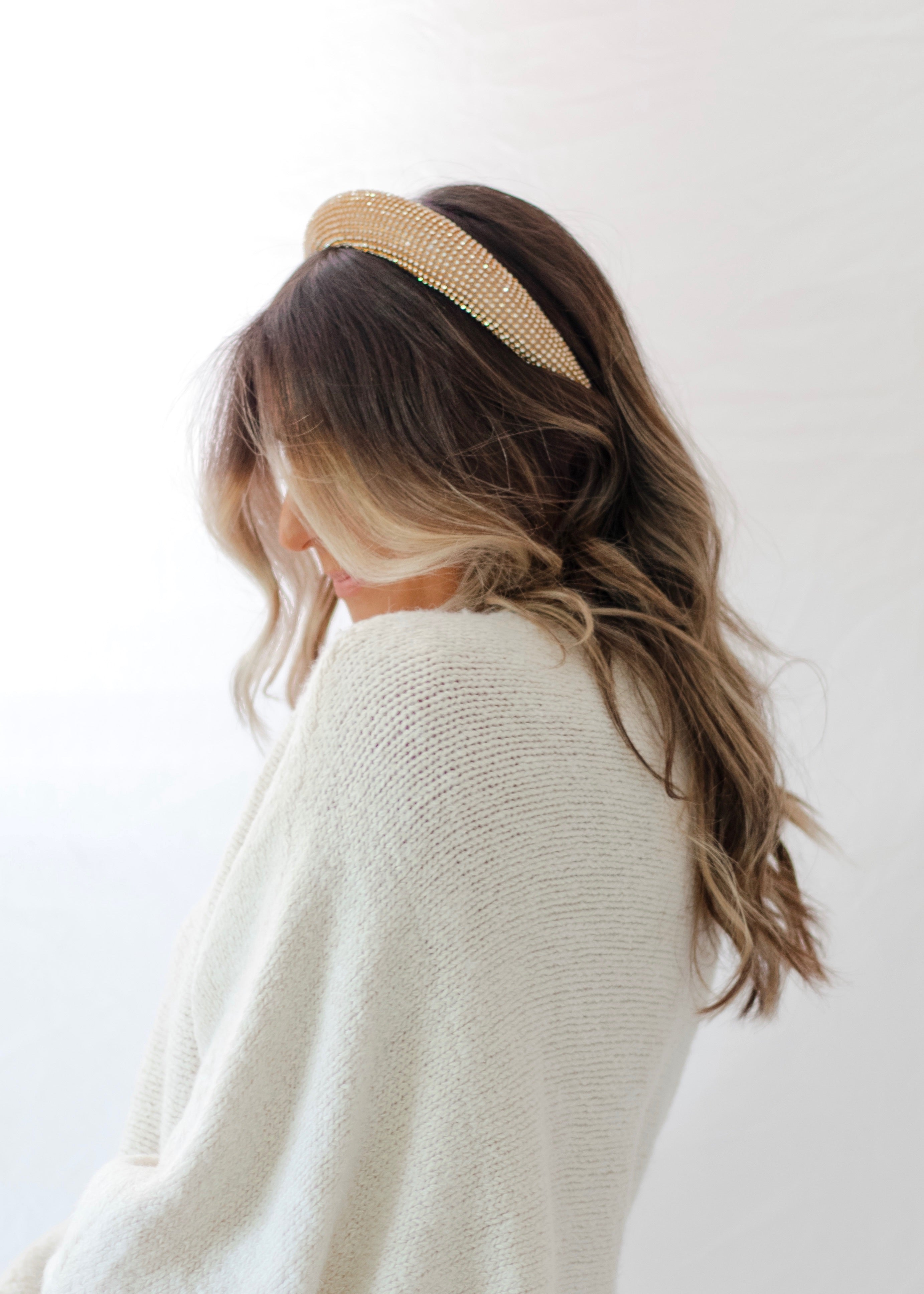 Golden Triangle Studded Headband