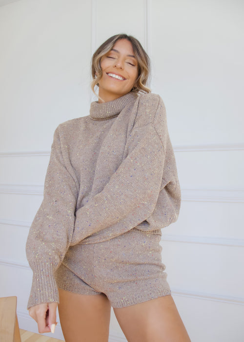 Big Bear Lake Cozy Turtleneck & Shorts Set