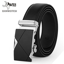 Designer Leather Strap Male Belt Automatic Buckle