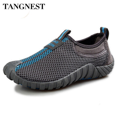 Men's Mesh Flats Breathable Network Platform Shoes Men Summer Loafers