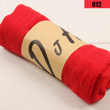 Multicolor cotton and linen scarf shawl for female