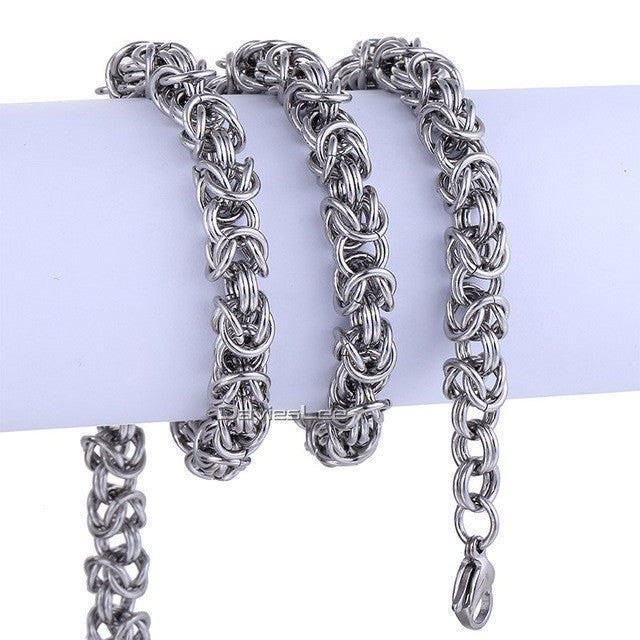7/9mm Flat Byzantine Stainless Steel Men's Chain