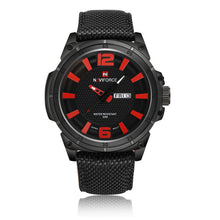 NAVIFORCE Brand Men Army Military Watches , Hour 3D Dial Date Clock with Nylon Strap Fashion