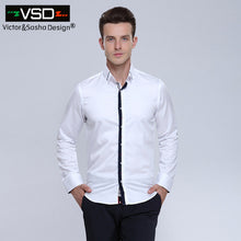 Double Collar Casual Slim Fit Long Sleeve Premium Cotton Shirts for Men