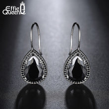 Natural Stone Fashion Black Clear Big Drop Earrings