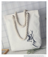 Literature Printing Canvas Tote Casual Beach Bags Handbags for Women