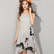 Summer Vintage Sleeveless Women Dresses