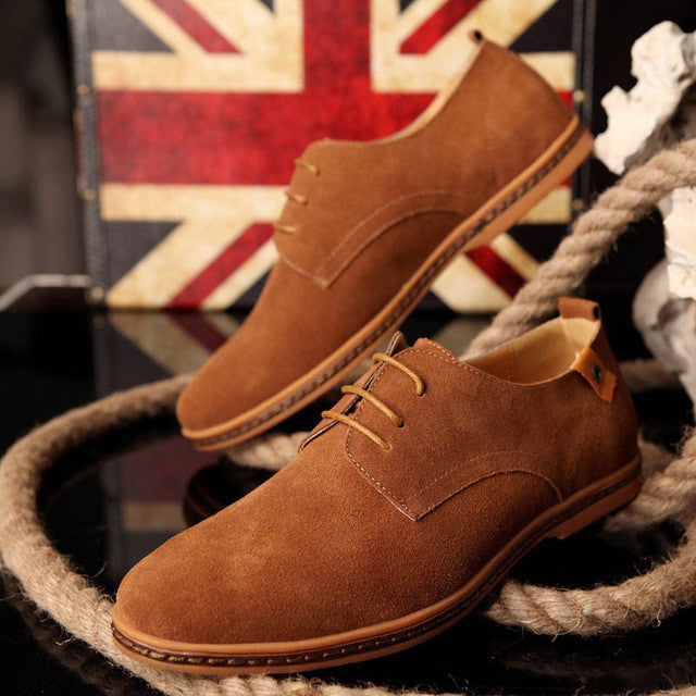 Men Outdoor Spring Autumn Winter Oxfords Style Leather Casual Shoes