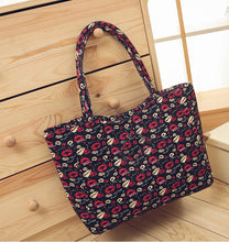 Canvas Casual Zipper Waterproof Shopping Bag