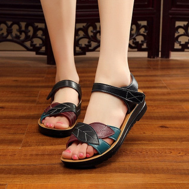 Summer flat comfortable soft bottom anti-skid Woman sandals