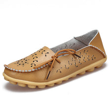 Ballet Summer Cut Out Women  Leather Flat Flexible Round Toe Nurse Casual Loafer