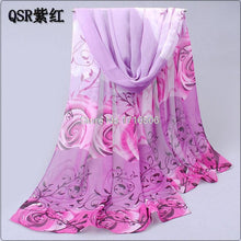 Cotton scarf with flowers printed chiffon polyester scarves for Beach