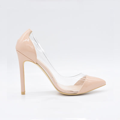 Women Pumps Transparent 11cm High Heels Pointed Toe Shoes