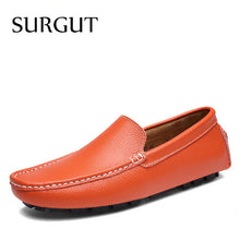 Brand New Colors Cow Split Mens Leather Flat Shoes Brand Moccasins Fashion Casual Shoes