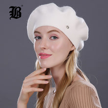 Lady Berets Hat For Winter Knitted Cotton Hats With Lining