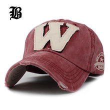 [FLB] Cotton Embroidery Letter W Baseball Cap Snapback Caps Bone casquette Hat Distressed Wearing Fitted Hat For Men Custom Hats