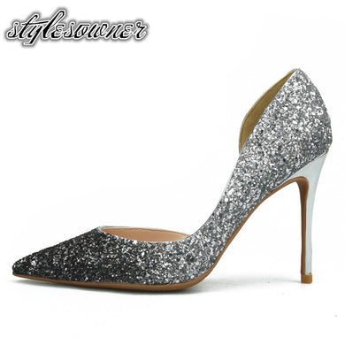 High End All-match Shallow Pumps Shoes Toe Stiletto