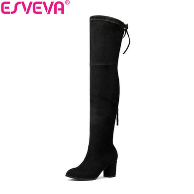 Over The Knee Boots Winter Round Toe Warm Women Boots