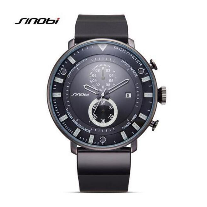 Ultra-thin waterproof chronograph men's watch
