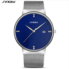 Luxury ultra-thin Ms. automatic date watch diamond wire mesh