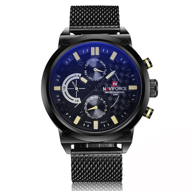 Men's Analog Quartz 24 Hour Date Watches Man 3ATM Waterproof Clock