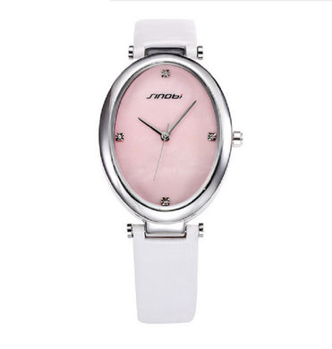 Luxury Diamond Fashion Leather Ladies Watch