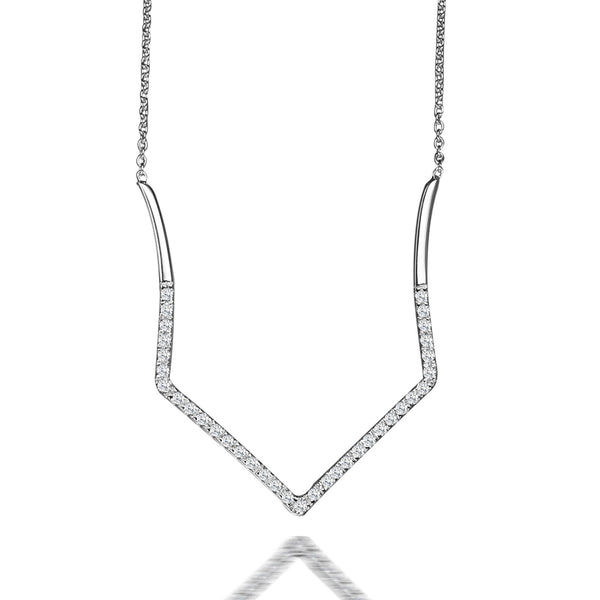 Hestia Heart Diamond Pendant Necklace