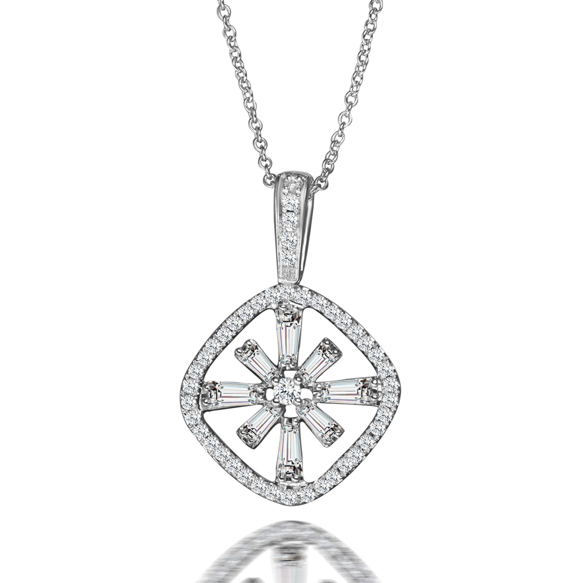 single diamond product platinum hearts pendant necklaces of picture fire gold triplicity on white