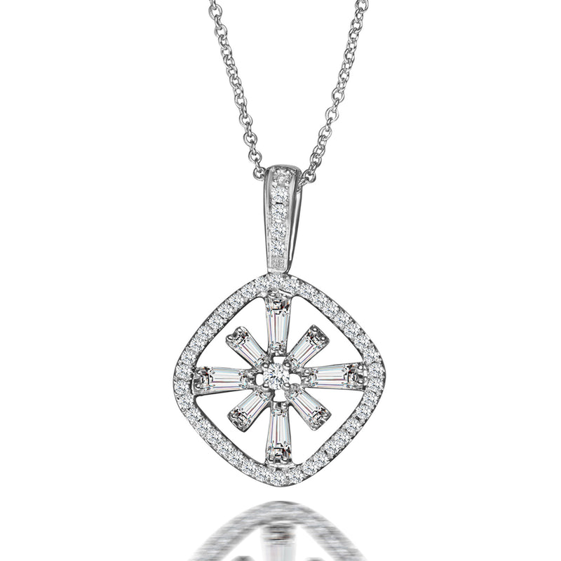 Bright Star Diamond Pendant Necklace