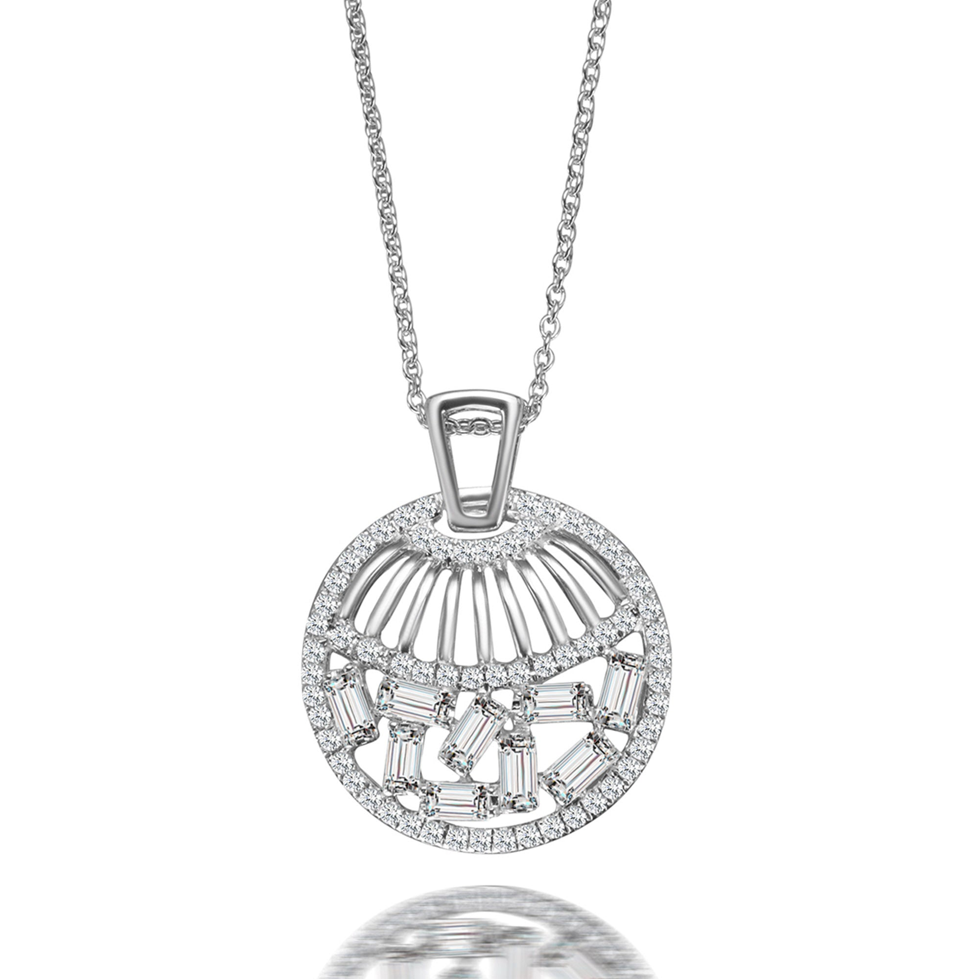 prong pendant product platinum brilliant four earth diamond necklace