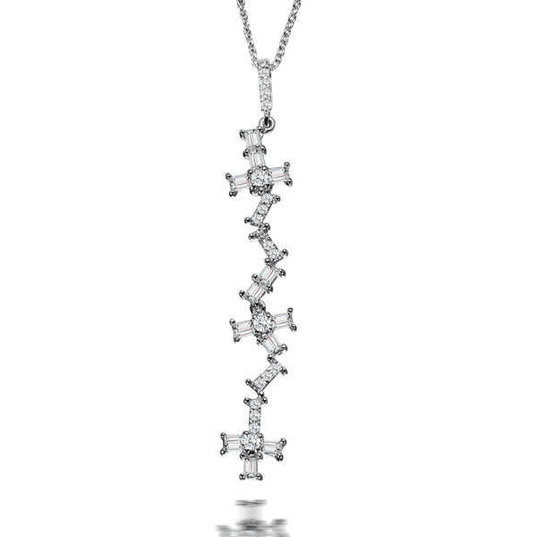 Forever Baguette Diamond Pendant Necklace
