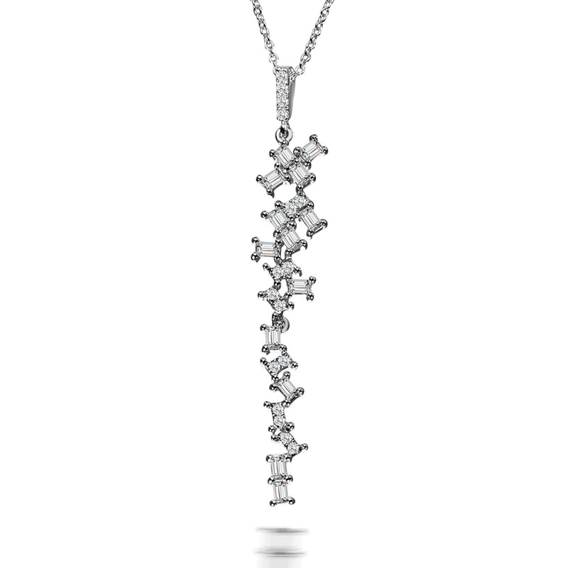 Delight Baguette Diamond Pendant Necklace