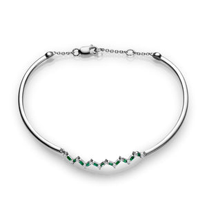 Happiness Bracelet - Diamonds and Emeralds