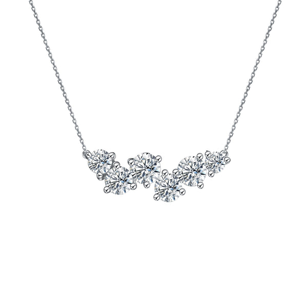 Dreamy Diamond Cluster Pendant Necklace