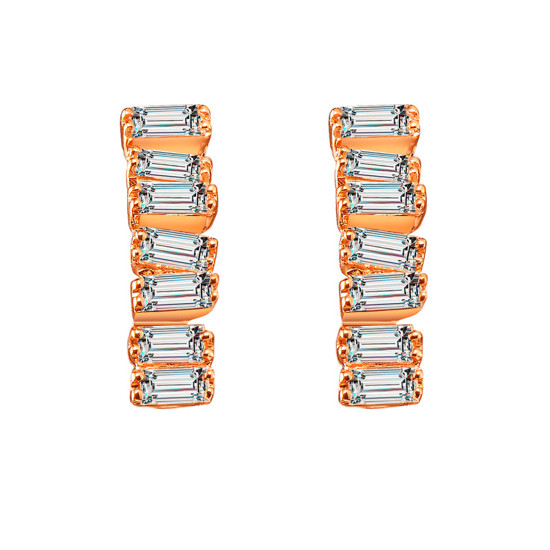 Love Diamond Earrings - Rose Gold