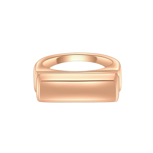 Grace Rose Gold Bar Ring