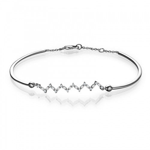 Happiness Zig Zag Baguette Bracelet - Diamonds