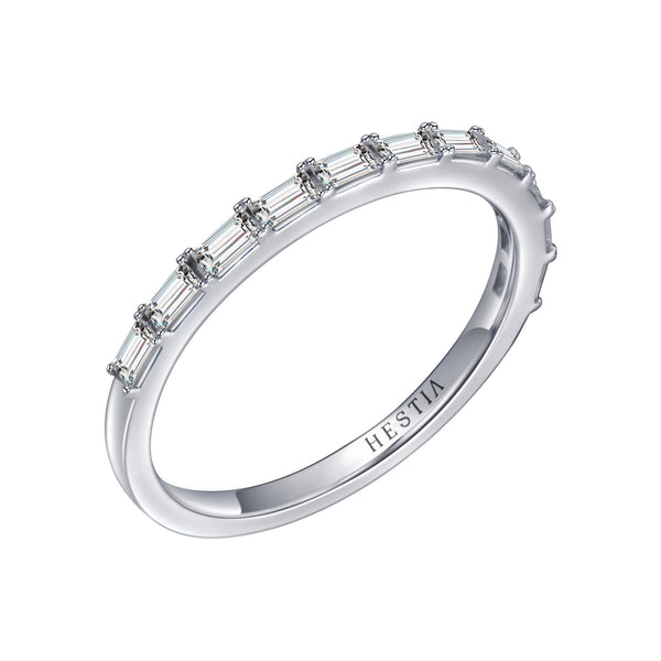 Composition Baguette Diamond Stack Ring