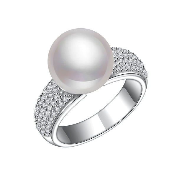 Cherish Pearl Diamond Ring