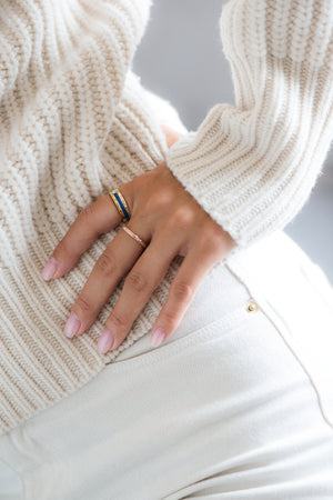 Billie White Gold Ring