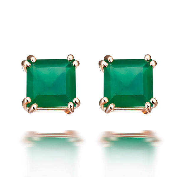 Sophia Green Agate Earrings