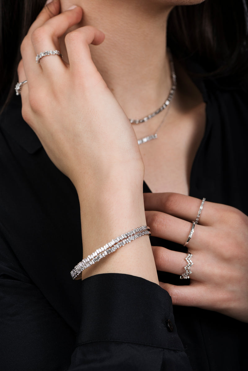 Love Diamond Bracelet - White Gold