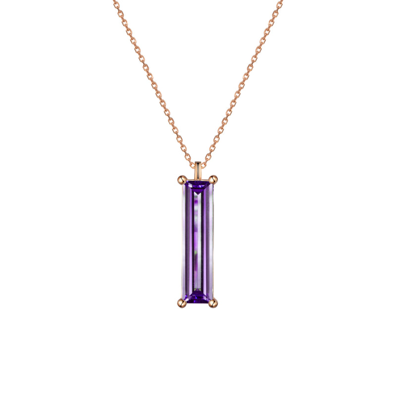 Elizabeth Purple Amethyst Pendant Necklace