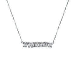 Love Diamond Mid-Bar Necklace - White Gold