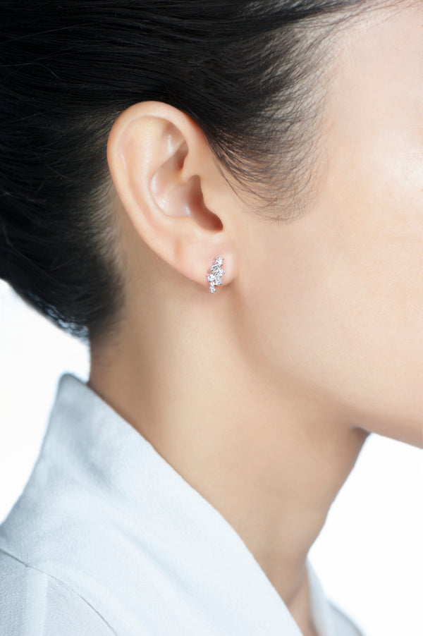 True Diamond Cluster Earrings