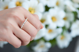 Light Collection Ring - White and Champagne Diamonds