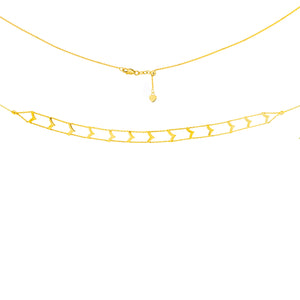 Distinct Gold Choker Necklace